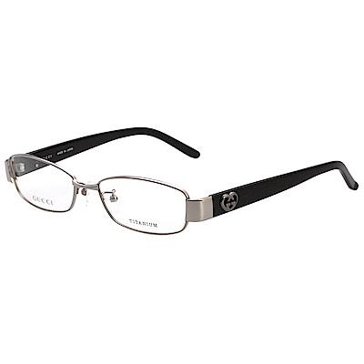 GUCCI 純鈦 愛心 光學眼鏡(銀色)