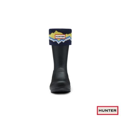 HUNTER - 配件-小童印花高筒襪套 - 海軍藍