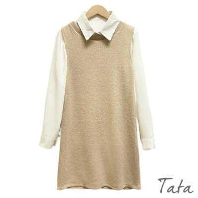 兩件式襯衫針織洋裝 TATA-F