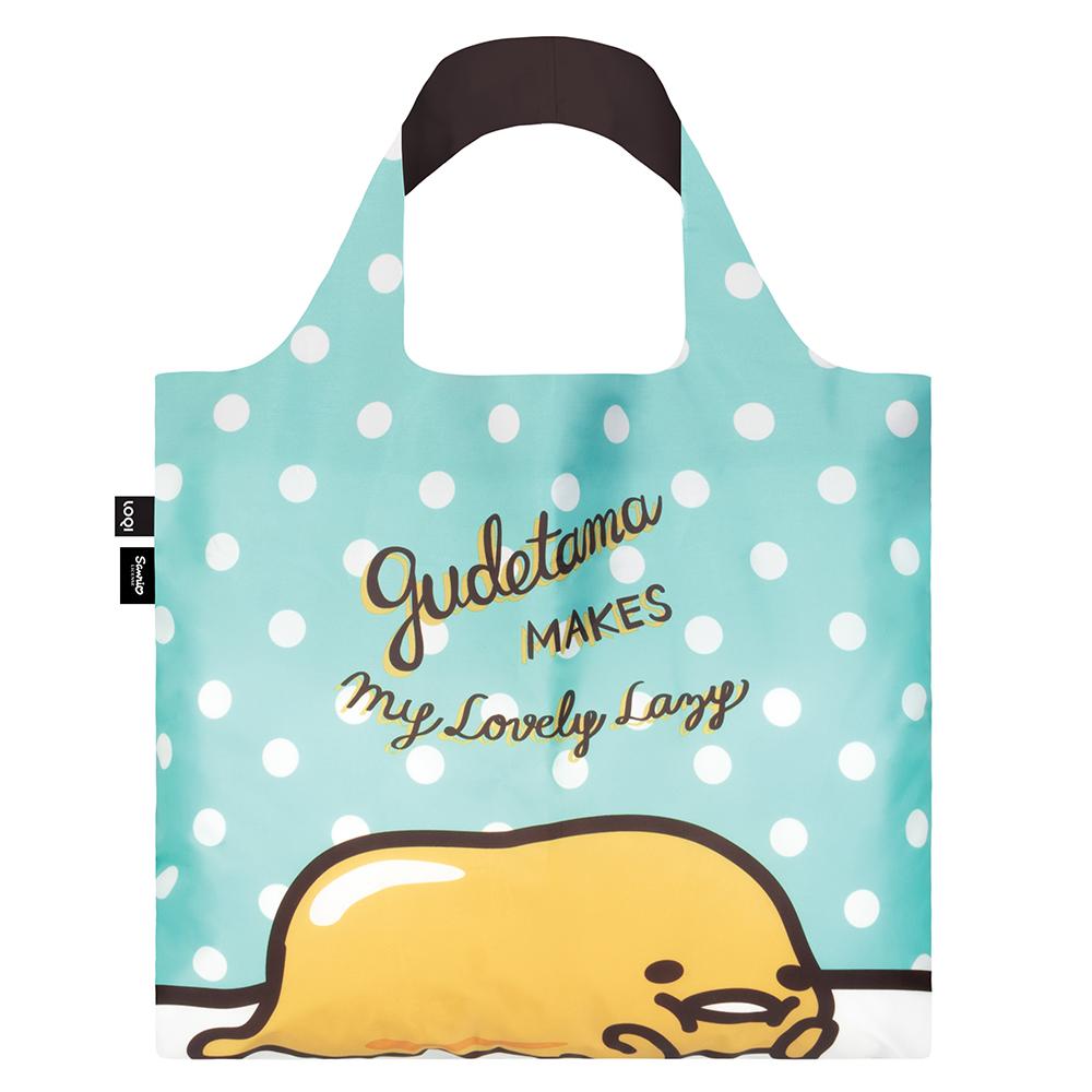 LOQI 購物袋-三麗鷗授權 (蛋黃哥 綠 GU01)