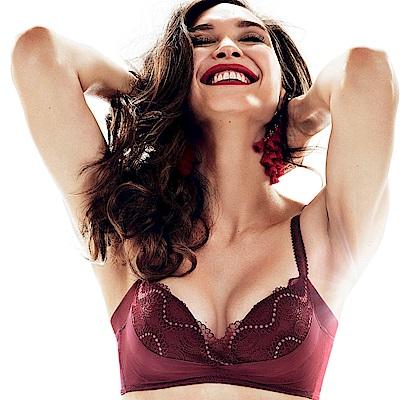 黛安芬-輕塑美型無鋼圈系列 B-C罩杯內衣(石榴紅)