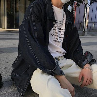 BuyGlasses oversize寬落牛仔長袖外套