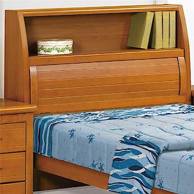 綠活居 勞森時尚3.5尺實木單人床頭箱(不含床底)-113x29x108cm免組