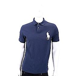 Ralph Lauren 大馬刺繡短袖POLO衫(男款/海軍藍)