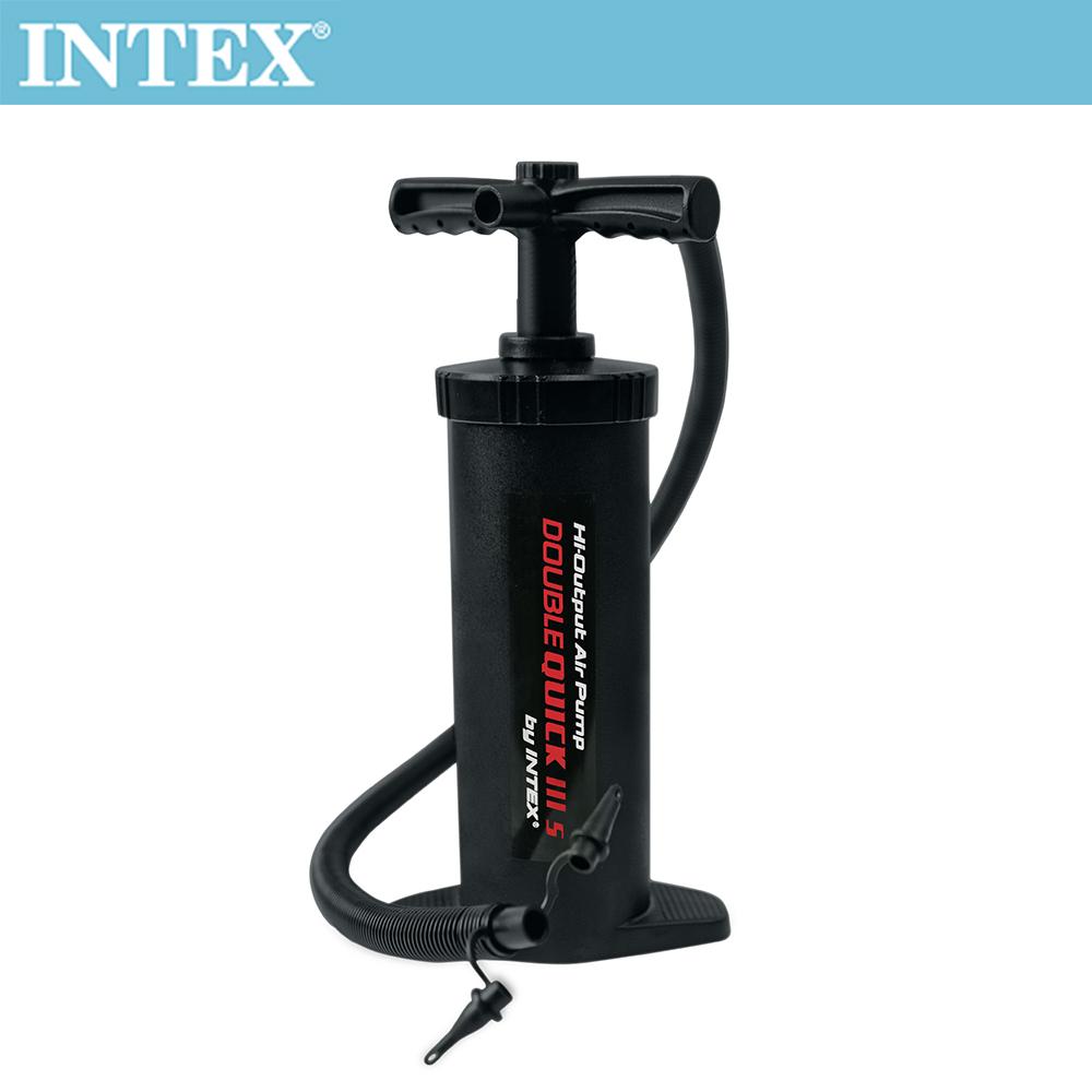 INTEX 手壓充氣幫浦/打氣筒(快速三代)-高37cm(68605)