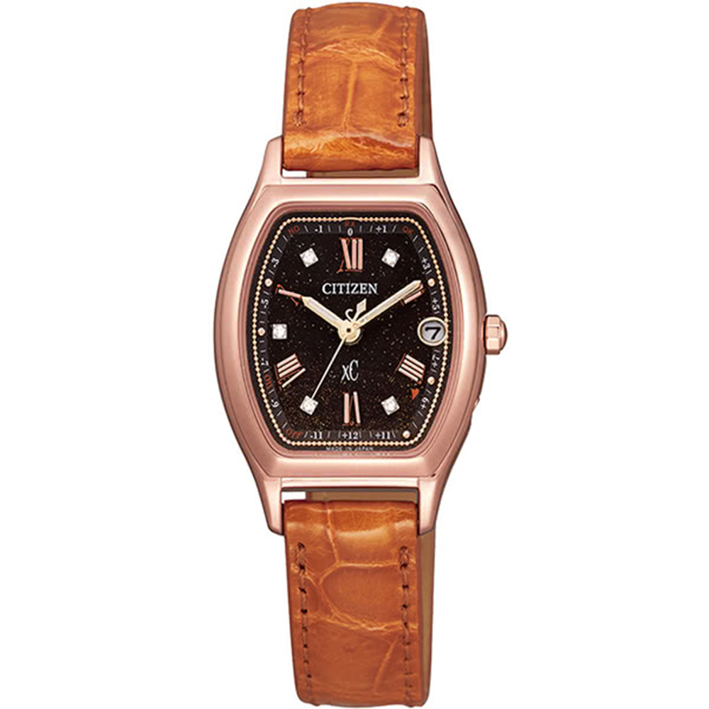 CITIZEN 星辰XC天然鑽石氣質優雅皮帶錶(ES9352-13E) @ Y!購物