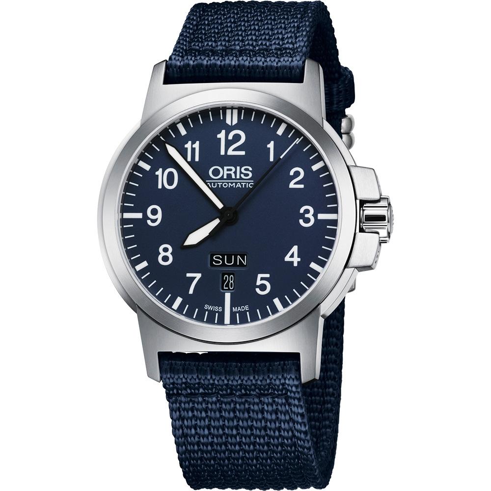 Oris BC3 Advanced 日曆星期機械腕錶-藍/42mm 73576414165
