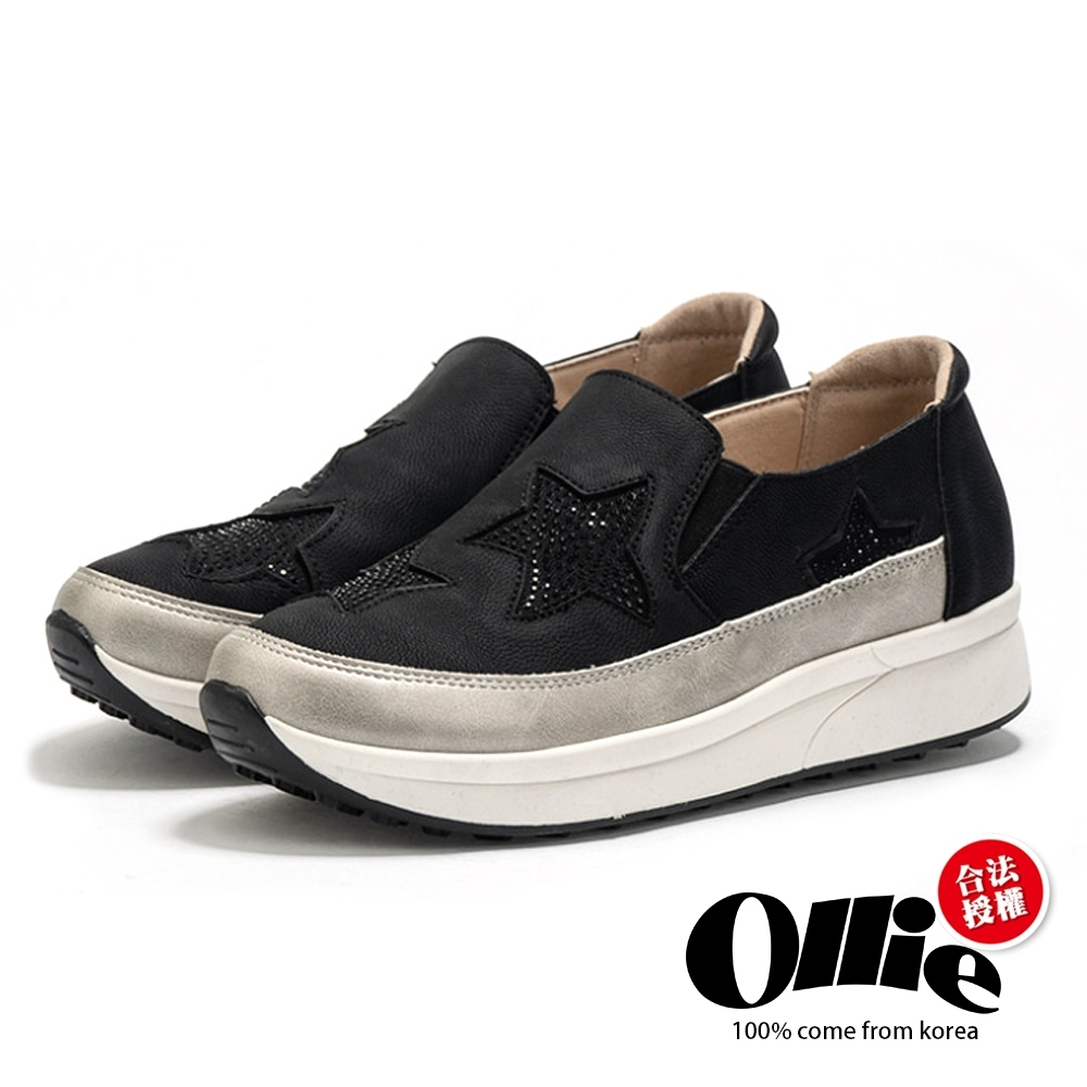 Aviator韓國空運-厚底星星鑽式懶人鞋-ollie預購