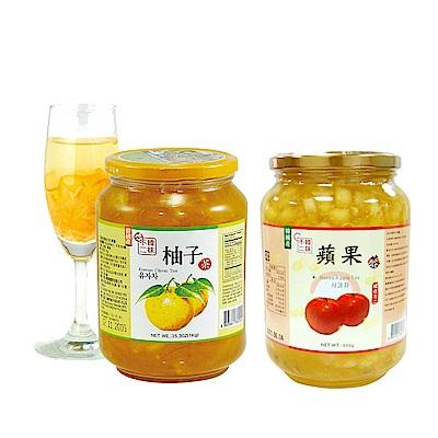 韓味不二 生黃金柚子茶(1kg)/生蘋果茶(950g) 均一價399