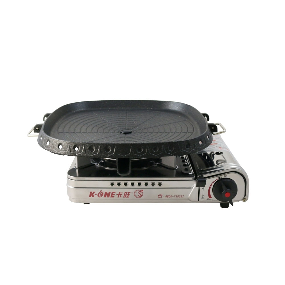 卡旺K1-A003SD攜帶式卡式爐+韓國最新火烤兩用烤盤NU-G