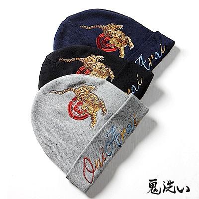 鬼洗 BLUE WAY 鬼洗黑武隊精繡針織毛帽(3色)