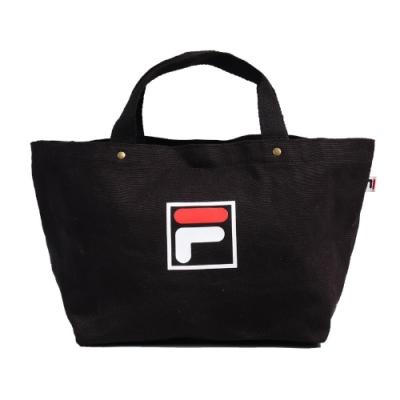 Fila 手提包 Canvas Bag 運動休閒 男女款 斐樂 兩用包 斜背 外出 輕便 帆布 黑 白 紅 BMU9009BK