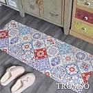 TROMSO 廚房防油皮革地墊-K318奢華紅花磚