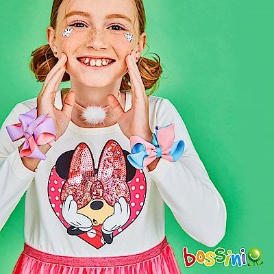 bossini女童-米奇系列連身洋裝乳白