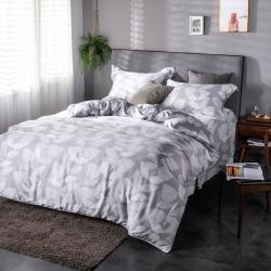 夢工場玉雪非花40支紗萊賽爾天絲四件式床罩兩用被-特大