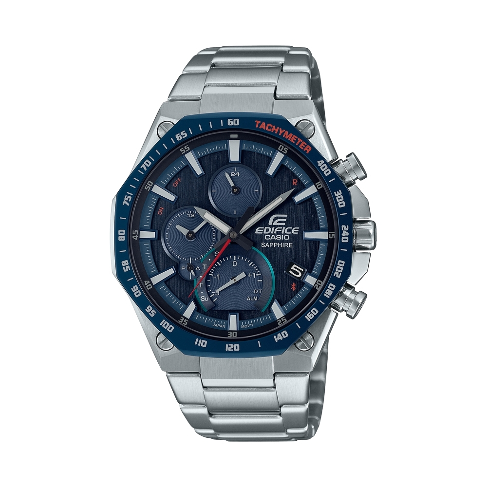 CASIO卡西歐 EDIFICE 藍牙 太陽能電力 輕薄 八角錶圈 EQB-1100XDB-2A_44.6mm