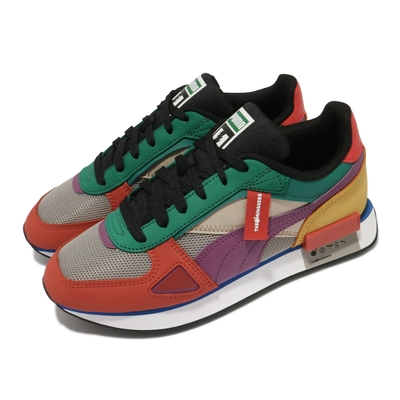 Puma 休閒鞋 Future Rider HF 男女鞋 The Hundreds 聯名 皮革 撞色 彩色 37372601