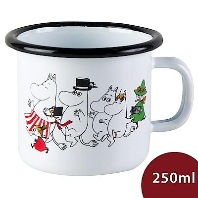 芬蘭Muurla 嚕嚕米馬克杯 歡樂出遊 白色 250ml