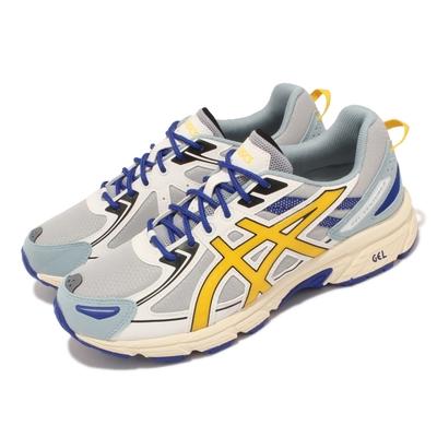 Asics 慢跑鞋 Gel Venture 6 野跑鞋 男鞋 亞瑟士 登山 耐磨 避震 緩衝 抓地 灰 藍 1201A366021