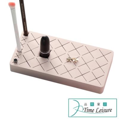 Time Leisure 巧克力矽膠化妝品口紅唇膏眉筆收納架(18+6格)