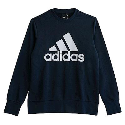 Adidas ESS BIGLOG-長袖上衣-男