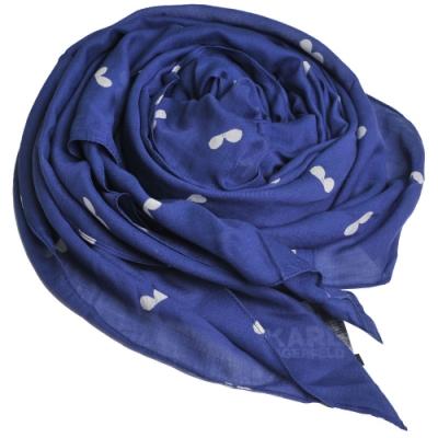 Karl Lagerfeld Paris 品牌圖形太陽鏡方形造型圍巾(深藍色)