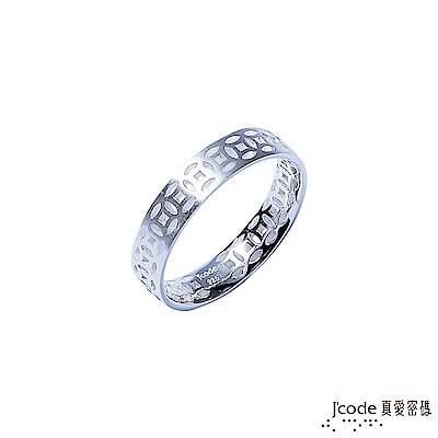 J'code真愛密碼 連環賺純銀男戒指