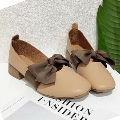 KEITH-WILL時尚鞋館 迷人可愛蝴蝶跟鞋-棕色