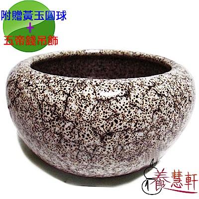 養慧軒 鶯歌陶瓷 棕天目釉(不含蓋)招財大聚寶盆