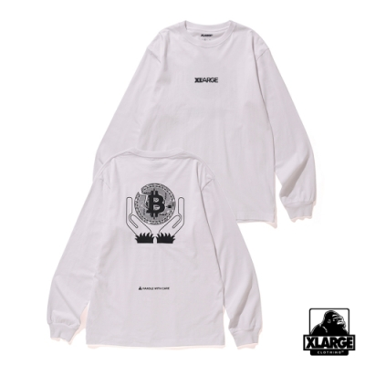 XLARGE L/S TEE BITCOIN長袖T恤-白