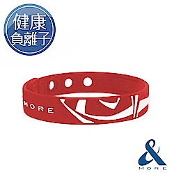 &MORE愛迪莫 KADORI負離子運動手環(紅色)