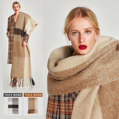 【KD】羅馬大披肩加厚超保暖圍巾
