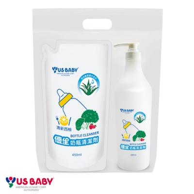 任選-優生奶瓶西柚香氛清潔劑500ml+補包組450ml