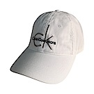 CK Calvin Klein經典刺繡字母LOGO棒球帽(白)