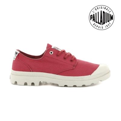 PALLADIUM PAMPA OX ORGANIC有機低筒鞋-中性-野莓紅