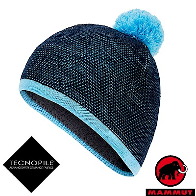 MAMMUT 長毛象 Snow Beanie 超輕彈性針織保暖帽_海洋藍