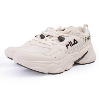 【FILA】HIDDEN TAPE  運動鞋 女鞋-米(5-J329U-113)