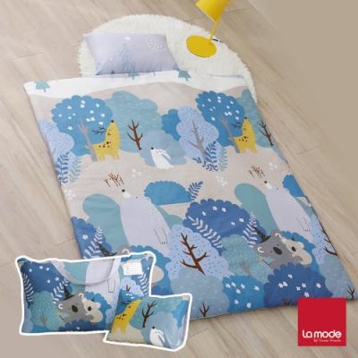 La mode寢飾 星夜熊睡寶包 環保印染100%精梳棉兒童睡袋