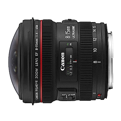 【快】CANON EF 8-15mm f/4L Fisheye USM超廣角變焦*(平輸)