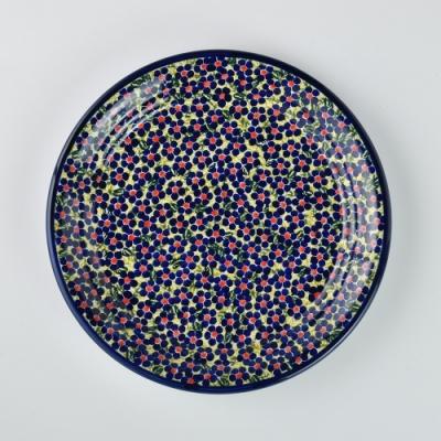 波蘭陶 山花爛漫系列 圓形餐盤 25cm 波蘭手工製