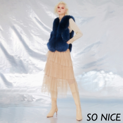 SO NICE氣質網布蛋糕裙