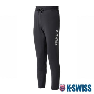 K-SWISS Straight Knit Pants運動長褲-男-黑