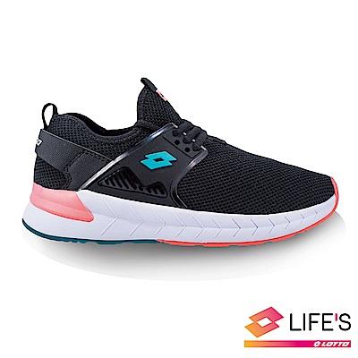 LOTTO 義大利 女 EVO LIFE 彈力潮流跑鞋 (黑)