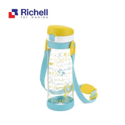 【Richell 利其爾】第一代LC 450ml 直飲式冷水壺 - 粉紅派對  【附背帶】