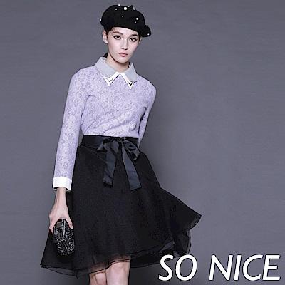 SO NICEE甜美派對雙層紗裙