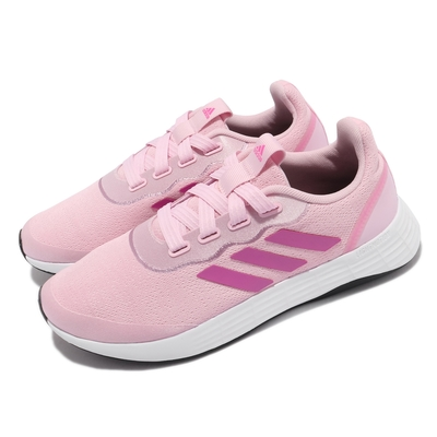 adidas 慢跑鞋 QT Racer Sport 運動 女鞋 愛迪達 輕量 透氣 舒適 避震 路跑 粉 紫 FY5676