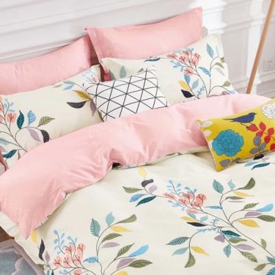 戀家小舖 / 單人床包枕套組 祕密花園 100%精梳純棉