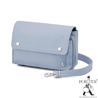 PORTER - 輕甜繽紛SPIRIT簡約兩用斜背包 - 粉藍(銀)