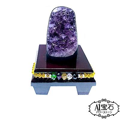 A1寶石 頂級巴西天然紫晶鎮/陣-同烏拉圭水晶洞功效470g(贈五行木座) @ Y!購物