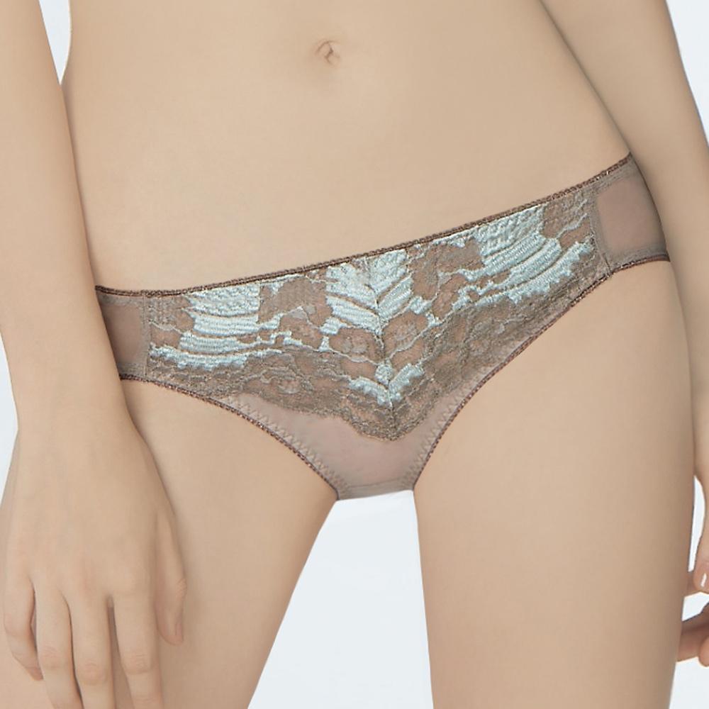 曼黛瑪璉 包覆提托經典 低腰三角內褲(摩卡褐)